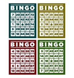 Bingo retro cards vector
