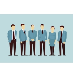 Concept of group people flat avatars vector