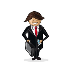 Profession businessman cartoon figure vector