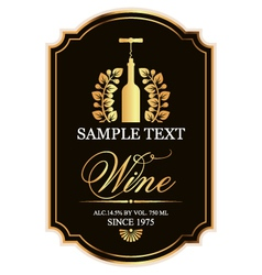 Label for wine vector