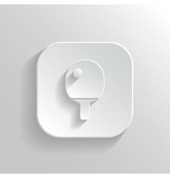 Ping pong icon - white app button vector