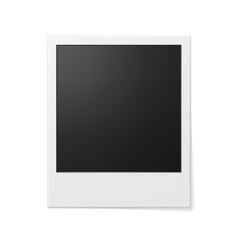 Retro photo frame vector
