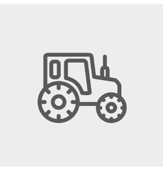 Offroad car thin line icon vector