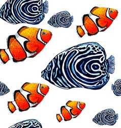 Fish pattern2 vector