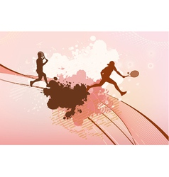 Tennis players background vector