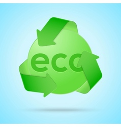 Abstract origami template eco-friendly sign vector