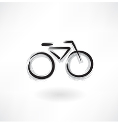 Bicycle grunge icon vector