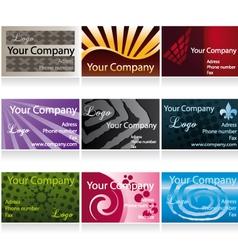 Business cards set ii vector