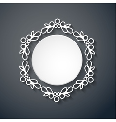 Paper decor with shadow on gray vector