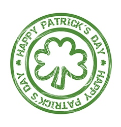 Patricks day with clover seal vector
