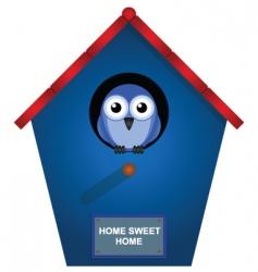 Bird house vector