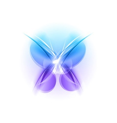 Abstract blue butterfly light vector