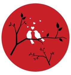 Couple of love birds vector