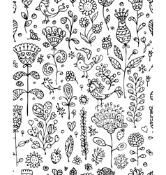 Floral pattern sketch for your design vector