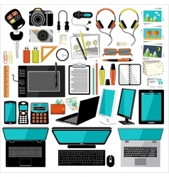 Office items and accessories vector