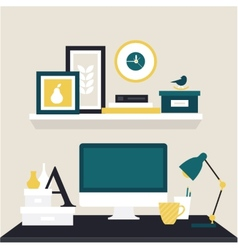 Designer workspace vector