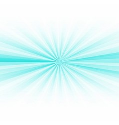 Abstract blue rays burst on white vector