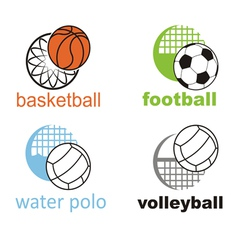 Signs and symbols of sports ball vector