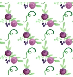 Watercolor floral violet berry handdrawn vector