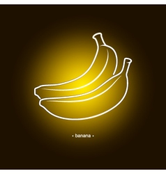 Image banana in the contours vector