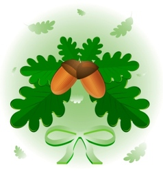 Leaves and acorns vector
