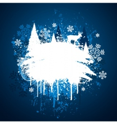 Winter grunge design vector
