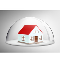 House under a glass dome vector