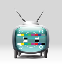 Tv cartoon retro set vector