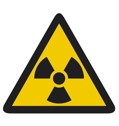 Nuclear warning symbol vector
