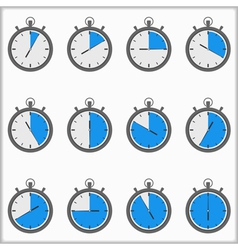 Timer icons vector