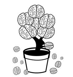 Brain in pot vector