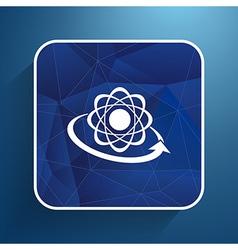 Molecular compound icon chemistry molecular vector