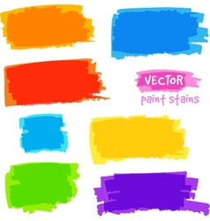 Bright rainbow colors pain spots set vector