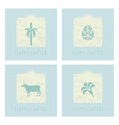 Easter cards set vector