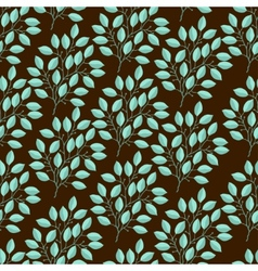 Natural seamless pattern with branches of leaves vector