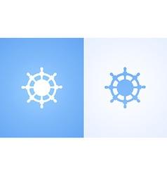 Logo of steering wheel vector