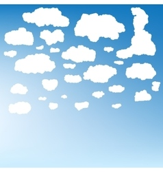 Stylized cloud silhouettes set eps 10 vector