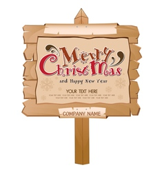 Christmas happy new year wood background vector