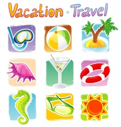 Vacation icon vector