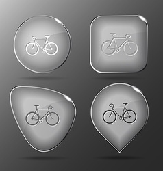 Bicycle glass buttons vector