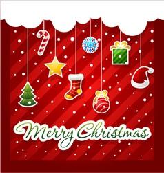 Christmas greeting card christmas items icons vector