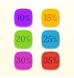 Discount percent sticker sale price tag vector