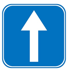 Road sign straight vector