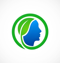 Eco people health bio logo vector