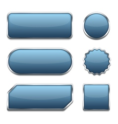 Blue web buttons vector