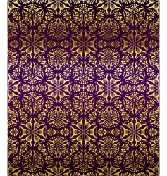 Purple and gold seamless arabesque vector
