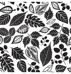 Seamless pattern with leaf abstract leaf texture vector