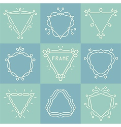 Outline frames set vector