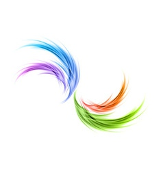 Abstract smoke rainbow vector