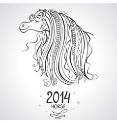 Horse horoscope vector